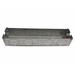 2 Gang Architrave Flush Box 133mm length x 27mm depth x 27mm width Metal Back Box