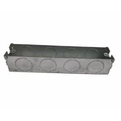 2 Gang Architrave Flush Box 148mm length x 27mm depth x 32mm width Metal Back Box