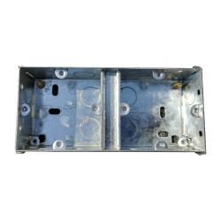 35mm Dual Metal Flush Backbox, 2 x 1 Flush Metal Back Box 154 x 70 x 35mm