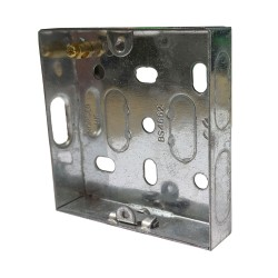 1 Gang 16mm Deep Single Metal Flush Box for Wall Mounting 70 x 70 x 16mm