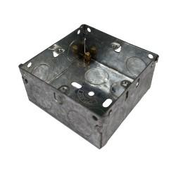 1 Gang 35mm Deep Flush Back Box, Single Gang Metal Flush Box 70 x 70 x 35mm