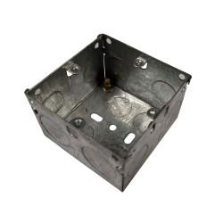 1 Gang 47mm Deep Flush Back Box, Single Gang Metal Flush Box 70 x 70 x 47mm