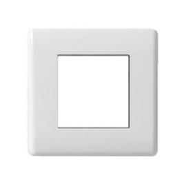 BG Nexus 8EMS2 1 Gang 2 Euro Module Cover Plate in White Plastic, Slimline Moulded White