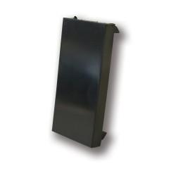 25 x 50mm Half Euro Blank in Black, Faceplate Half Blank in Black for Euro Plates