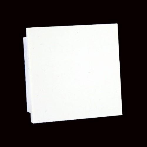 Blank Faceplate in White 50mm x 50mm Euro Module, Quarter size Face Plate Blank Module