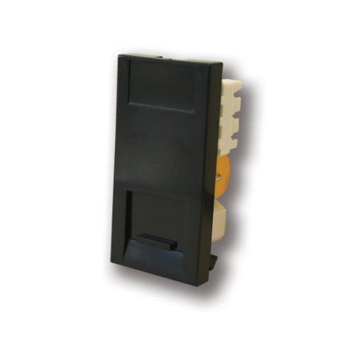 1 Gang Master Telephone Socket IDC Euro Module in Black, 25x50mm Snap-in Master Phone Socket