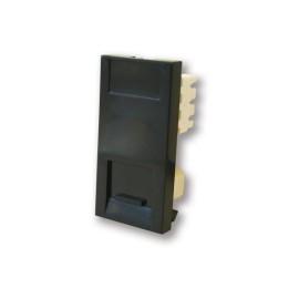 1 Gang Secondary Telephone Socket IDC Euro Module in Black, 25x50mm Snap-in Slave Phone Socket
