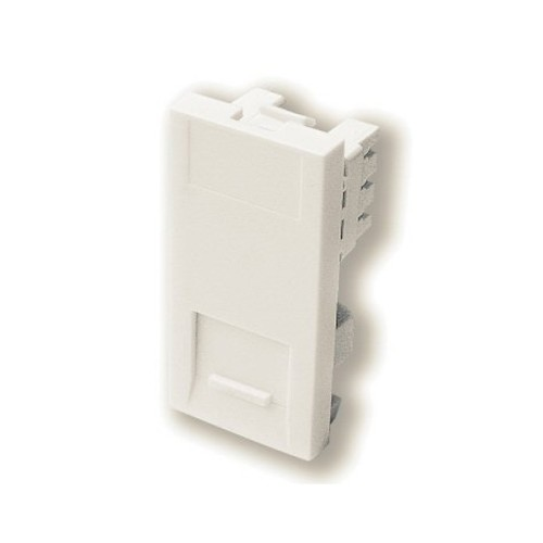 1 Gang Secondary Telephone Socket IDC Euro Module in White, 25x50mm Snap-in Slave Phone Socket