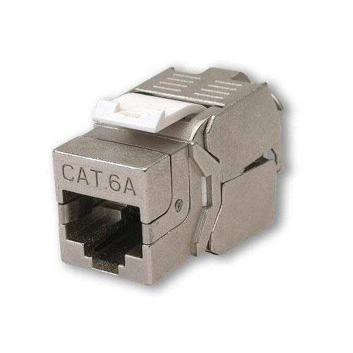 CAT6A Tool Less Jack Screened RJ45 Data Module, Snap-in CAT6A Module