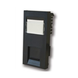 CAT6 RJ45 Euro Module in Black with IDC, 25x50mm Data Module for Euro Plates