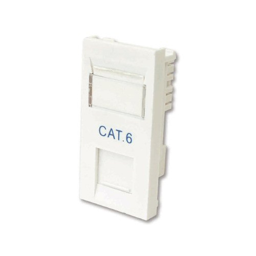 CAT6 RJ45 Euro Module in White with IDC, 25x50mm Data Module for Euro Plates