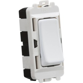 20AX Intermediate Grid Switch Module in Matt White for use with the Knightsbridge Grid System