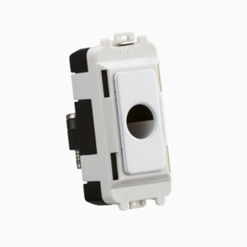 Grid Flex Outlet Module (up to 10mm) in Matt White, Knightsbridge GDM012MW