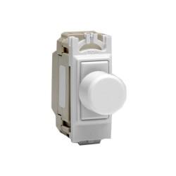 Varilight V-Com 2-way 15-180W Rotary LED Grid Dimmer in White (max. 20 LEDs), Varilight GKP180WMG