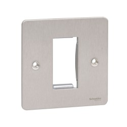1 Gang Euro Flat Plate in Stainless Steel for 1 Euro Module Schneider Ultimate GU8250SS Coverplate