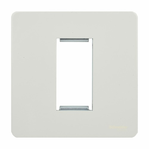 Screwless 1 Gang Euro Modular Flat Plate in White (Cover Plate only) Schneider GU8450PW