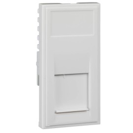 1 Gang RJ45 CAT5E Data Socket Euro Module White Moulded with Jack, Schneider GUE7079W Ultimate 25 x 50mm