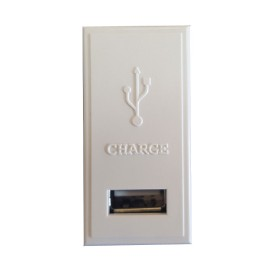 1A 5V Single USB Charger Euro Module in White Moulded 50 x 25mm Schneider GUE7073W