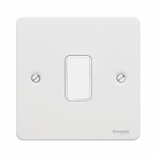 1 Gang Grid Cover Plate in White Metal, Schneider GUG01GPW Ultimate Grid Flat Plate Cover only