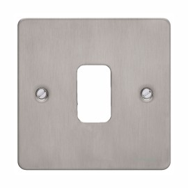 1 Gang Grid Front Plate in Stainless Steel, Schneider GUG01GSS 1 Gang Metal Face Plate