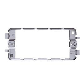 MK K3703 3 Gang Module Yoke Mounting Frame for up to 3 Modules, 2 Gang size Grid Mount Frame