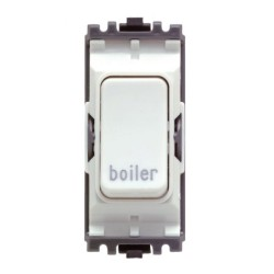 MK K4896BRWHI Grid 20A Double Pole Switch Marked 'Boiler' in White