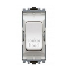 MK K4896CHWHI Grid 20A Double Pole Switch Marked 'Cooker Hood' in White