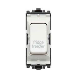 MK K4896FFWHI 20A Double Pole Grid Switch Marked 'Fridge Freezer' in White