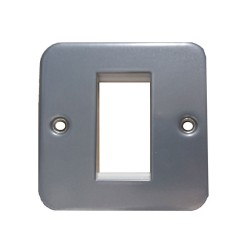 1 Gang Single Module Square Faceplate for Metal Clad BG Euro Front Plate