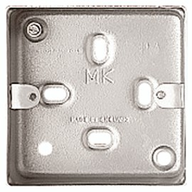 MK K2213ALM 1 Gang Surface Mounting Box with 5 x 20mm Knockouts 41mm
