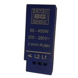 1 gang 2 Way Push On/Off 60-400W Dimmer Module 200-250V, BG Electrical Push Dimmer