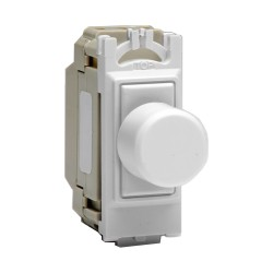 Intermediate PushOn/Off Switch PowerGrid Module (Dummy Dimmer) 6A (1 Grid Space) in White