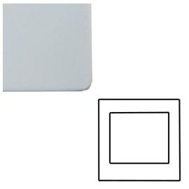 1 Gang 2 Module Euro Cover Plate in Matt White Screwless with White Trim, Mode White