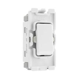Nexus Grid 20A 20AX 1 Gang 2 Way Single Pole Centre Off Switch Module in White for Nexus Grid System, BG Nexus R12C
