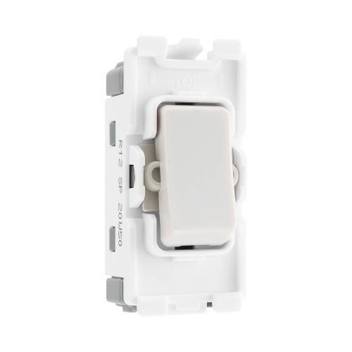Nexus Grid 20A 20AX 1 Gang 2 Way Module Single Pole in White for Nexus Grid System, BG Nexus R12
