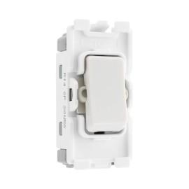 Nexus Grid 20A 20AX 1 Gang 2 Way Retractive Switch Module Single Pole (PRESS) in White for Nexus Grid System, BG Nexus R14