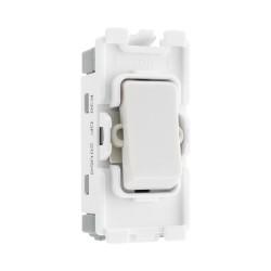 Nexus Grid 20A 20AX 1 Gang Double Pole Module in White for Nexus Grid System, BG Nexus R30 DP Switch