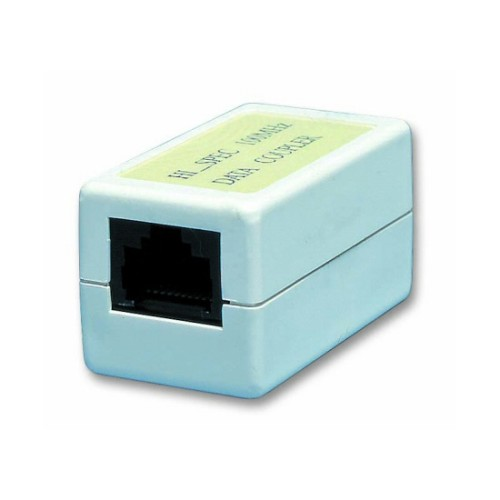 CAT5e RJ45 Inline Coupler in White to Enable Joining of RJ45 to RJ45 Modular Cords