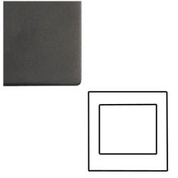1 Gang 2 Module Euro Cover Plate in Matt Black Screwless with Black Trim, Mode Black
