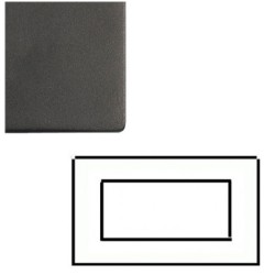 2 Gang 4 Module Euro Cover Plate in Matt Black Screwless with Black Trim, Mode Black