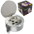 Recessed 13A Socket (switched) with 2 USB Charger Ports 5V DC 2.1A for Desktop and Countertop