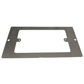 1 x 2 Gang Floor Plate for 3 Compartment Floor Box FLOORBOX, Grey Accessory plate 185 x 95mm