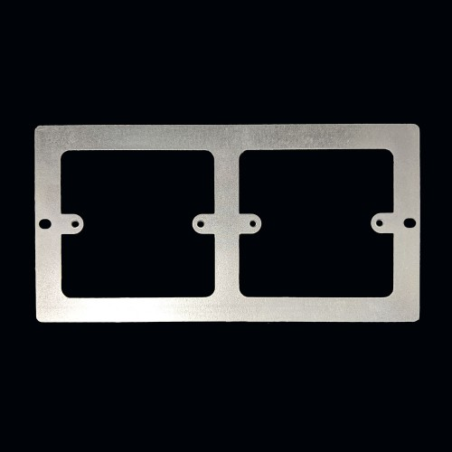 Accessory Plate 2 x 1 Gang for the 3 Compartment FLOORBOX, Grey, Series 507 185mm x 95mm