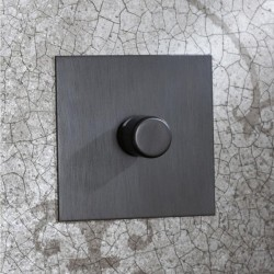1 Gang 2 Way Push ON/OFF Switch Antique Bronze Plate and Knob from Forbes and Lomax