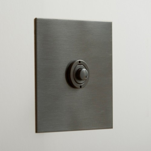 1 Gang Momentary Switch Antique Bronze Plate and Button, Single Button Dimmer Controller