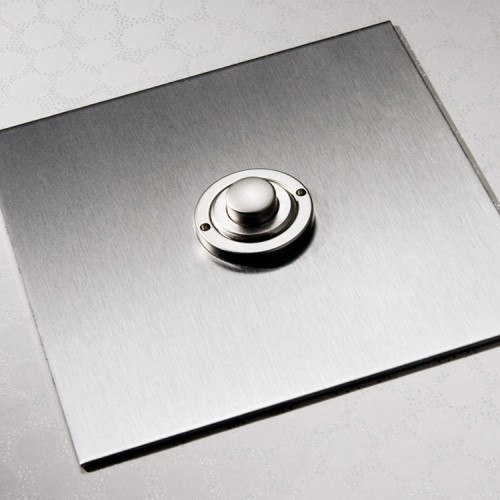 1 Gang Momentary Switch Stainless Steel Plate and Button, Single Button Dimmer Controller