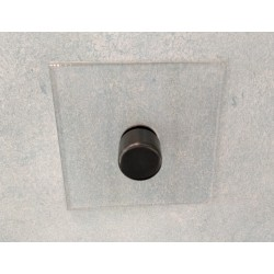 1 Gang 2 Way Push ON/OFF Switch Invisible Plate and Antique Bronze Knob from Forbes and Lomax