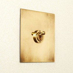 1 Gang Intermediate Dolly Switch in Brushed Brass Plate and Dolly from Forbes and Lomax
