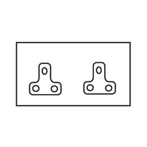 2 Gang 2A Unswitched Double Socket in Aged Brass Plate and White Insert by Forbes and Lomax