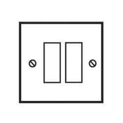 2 Gang Combination Plate in Invisible Flat Plate from Forbes and Lomax